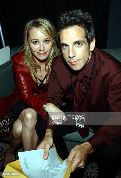 Ben Stiller wife Christine Taylor during TNT'Come Together' A Night for John Lennon's Words Music Dedicated to New York City and its People Backstage...