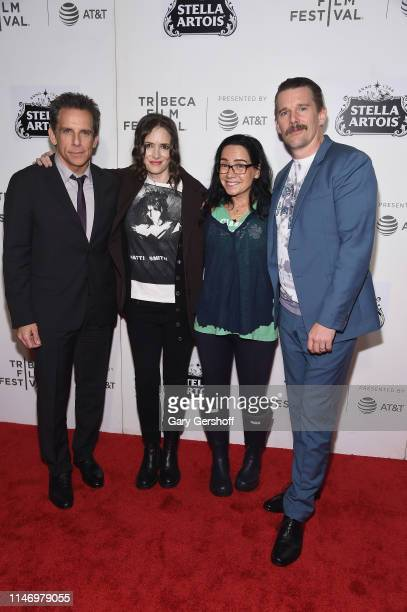 Ben Stiller Winona Rider Janeane Garofalo and Ethan Hawke attend the 25th anniversary screening of 'Reality Bites' during the 2019 Tribeca Film...