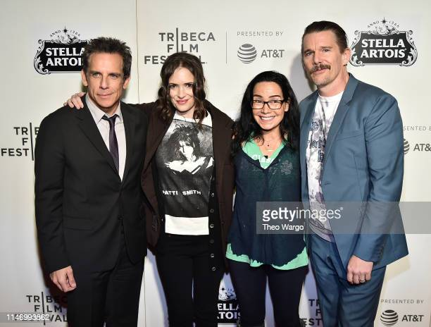 Ben Stiller Winona Ryder Janeane Garofalo and Ethan Hawke attend Reality Bites 25th Anniversary 2019 Tribeca Film Festival at BMCC Tribeca PAC on May...