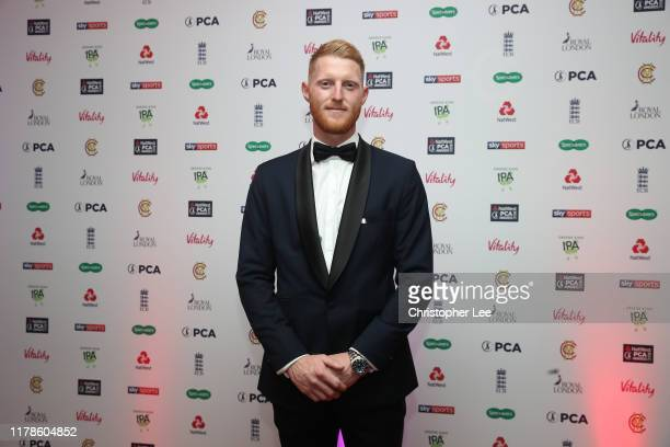 Ben Stokes arrives for the 50th NatWest PCA Awards at The Roundhouse on October 02, 2019 in London, England.