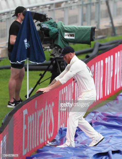 Ben Stokes looks on after being beaten by the ball to the boundary during Day Three of the 1st #RaiseTheBat Test Match between England and Pakistan...