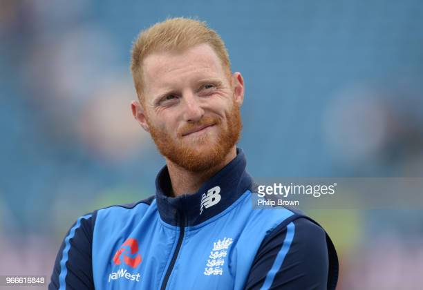 Ben Stokes looks on after England won the 2nd Natwest Test match between England and Pakistan at Headingley cricket ground on June 3 2018 in Leeds...