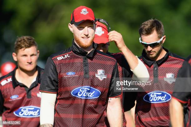 Ben Stokes of Canterbury and his team mates walk from the ground after their loss in the Ford Trophy One Day match between Canterbury and Otago on...
