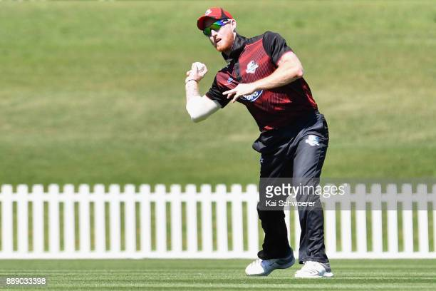 Ben Stokes of Canterbury fields the ball during the One Day Ford Trophy Cup match between Canterbury and Northern Districts on December 10 2017 in...
