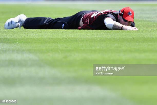 Ben Stokes of Canterbury looks dejected after missing a catch during the One Day Ford Trophy Cup match between Canterbury and Northern Districts on...