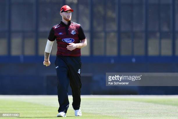 Ben Stokes of Canterbury looks on during the One Day Ford Trophy Cup match between Canterbury and Northern Districts on December 10 2017 in...