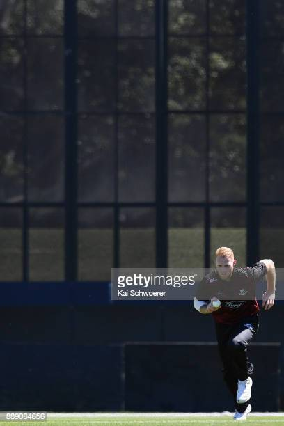 Ben Stokes of Canterbury runs in to bowl during the One Day Ford Trophy Cup match between Canterbury and Northern Districts on December 10 2017 in...