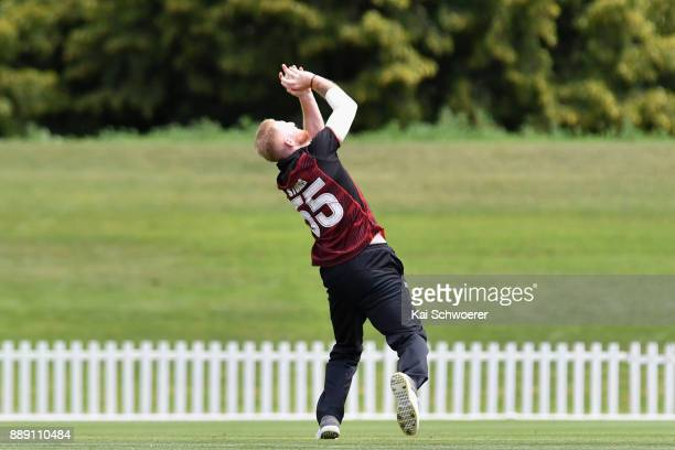 Ben Stokes of Canterbury takes a catch to dismiss Anton Devcich during the One Day Ford Trophy Cup match between Canterbury and Northern Districts on...