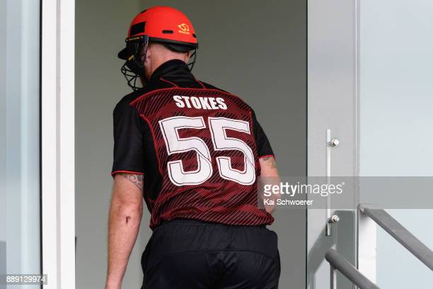 Ben Stokes of Canterbury walks in after being run out for 0 runs during the One Day Ford Trophy Cup match between Canterbury and Northern Districts...