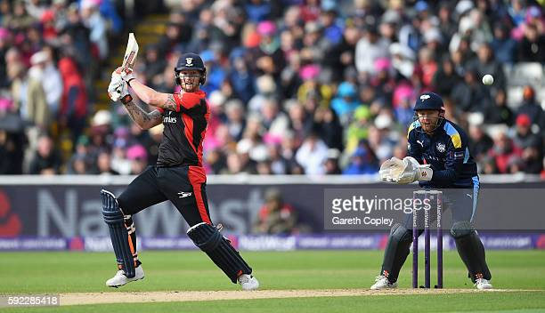 Ben Stokes of Durham bats during the NatWest t20 Blast Semi Final between Yorkshire and Durham at Edgbaston on August 20 2016 in Birmingham England
