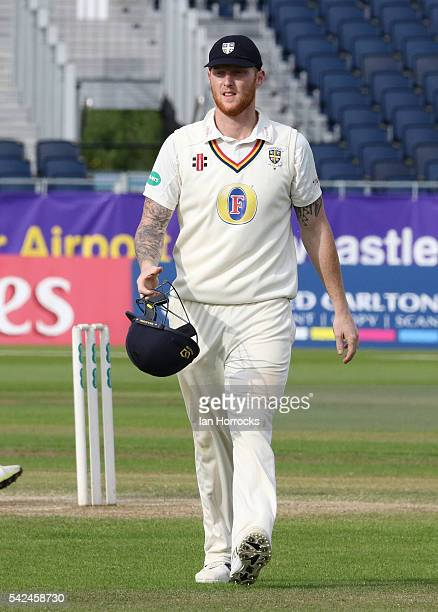 Ben Stokes of Durham during day four of the Specsavers County Championship Division One match between Durham and Yorkshire at Emirates Durham ICG on...