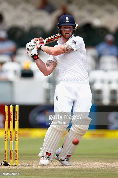 Ben Stokes of England bats during day five of the 2nd Test at Newlands Stadium on January 6 2016 in Cape Town South Africa