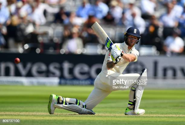 Ben Stokes of England bats during day one of the 1st Investec Test Match between England and South Africa at Lord's Cricket Ground on July 6 2017 in...