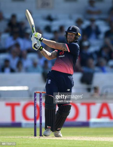 Ben Stokes of England bats during the 1st Royal London ODI match between England and South Africa at Headingley on May 24 2017 in Leeds England