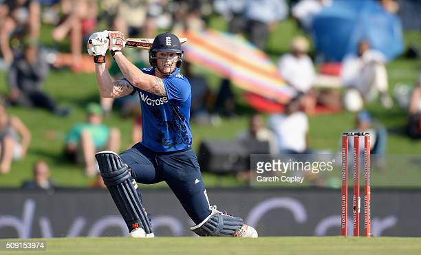 Ben Stokes of England bats during the 3rd Momentum ODI match between South Africa and England at Supersport Park on February 9 2016 in Centurion...