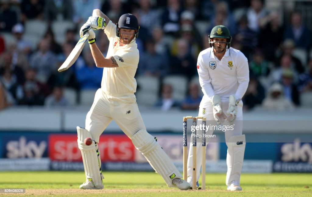 England v South Africa - 4th Investec Test: Day One : News Photo