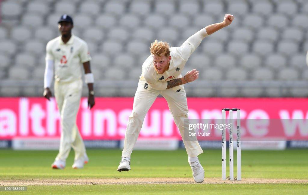 England v Pakistan: Day 3 - First Test #RaiseTheBat Series : News Photo
