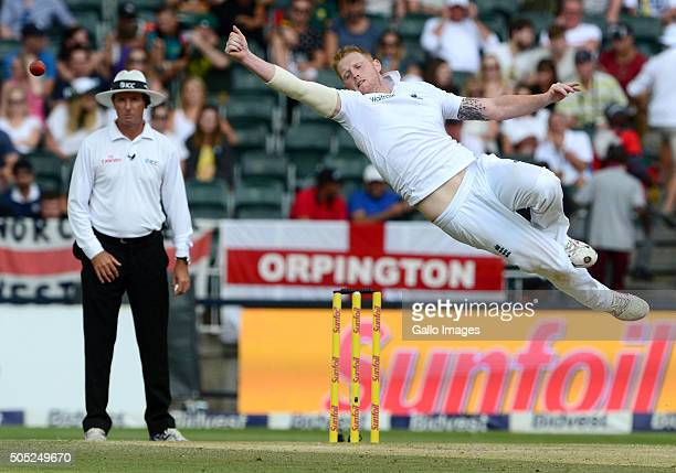 Ben Stokes of England during day 3 of the 3rd Test match between South Africa and England at Bidvest Wanderers Stadium on January 16 2016 in...
