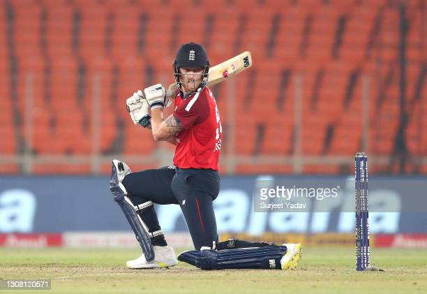Ben Stokes of England during the 5th T20 International between India and England at Narendra Modi Stadium on March 20, 2021 in Ahmedabad, India.