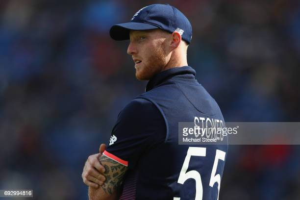 Ben Stokes of England during the ICC Champions Trophy match between England and New Zealand at the SWALEC Stadium on June 6 2017 in Cardiff Wales