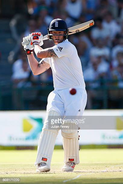 Ben Stokes of England his out during day one of the 2nd Test at Newlands Stadium on January 2 2016 in Cape Town South Africa