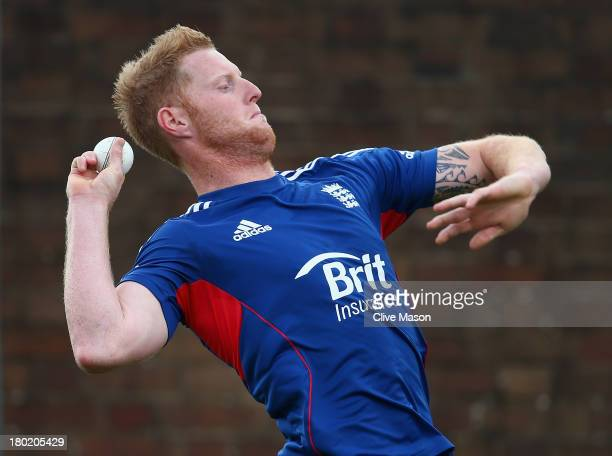 Ben Stokes of England in action during a net session ahead of the third NatWest One Day International Series match between England and Australia at...