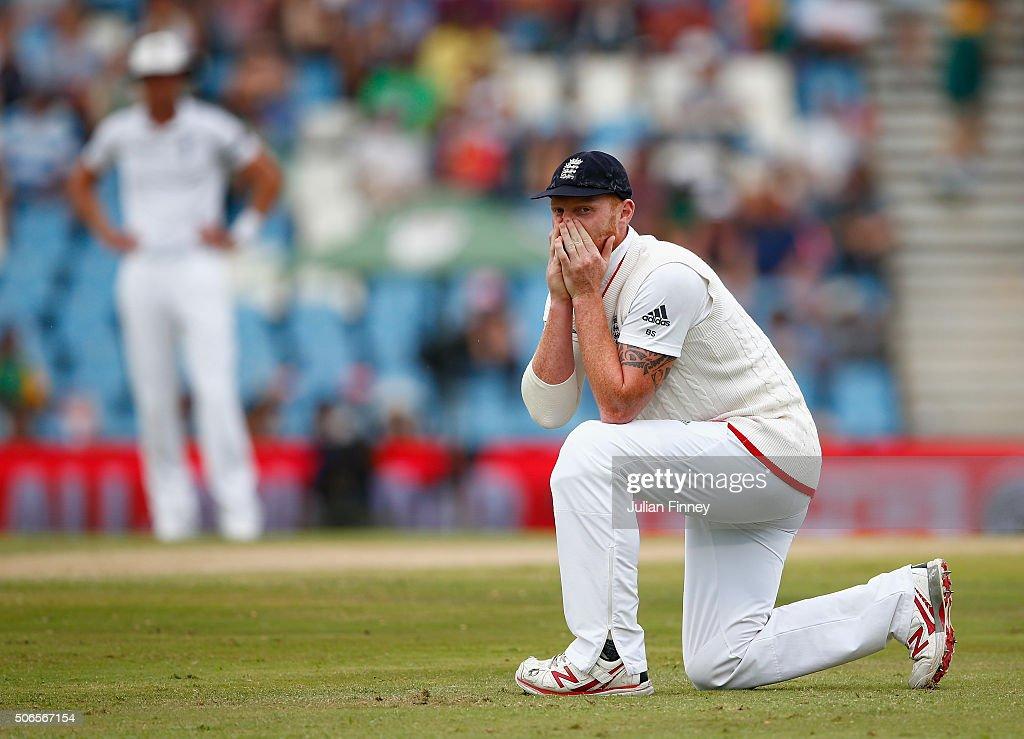 South Africa v England - Fourth Test: Day Three : Nieuwsfoto's