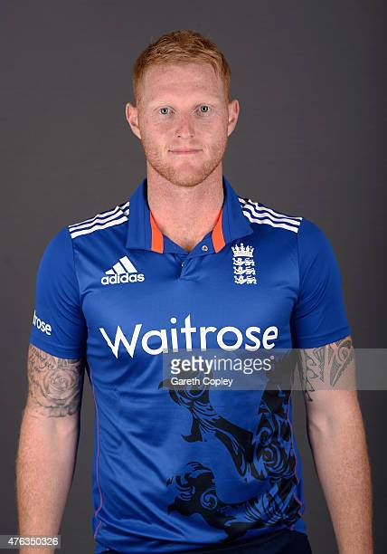 Ben Stokes of England poses for a portrait at Edgbaston on June 8 2015 in Birmingham England