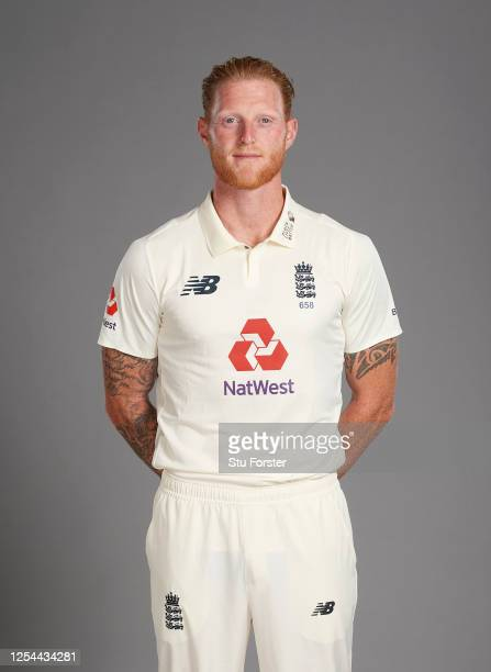Ben Stokes poses for a portrait during the England Test Squad Photo call at Ageas Bowl on July 05, 2020 in Southampton, England.
