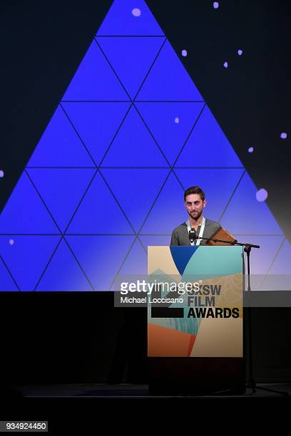 Ben Strang accepts the Independent Episodic Award winner for 'Beast' at the SXSW Film Awards show during the 2018 SXSW Conference and Festivals at...