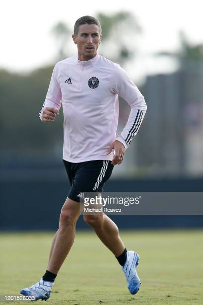 Ben Sweat of Inter Miami CF in action during a training session at Barry University on January 23 2020 in Miami Florida