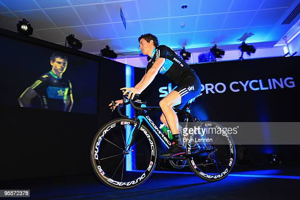 Ben Swift of Great Britain attends the Team Sky Launch at Millbank Tower on January 4 2010 in London England