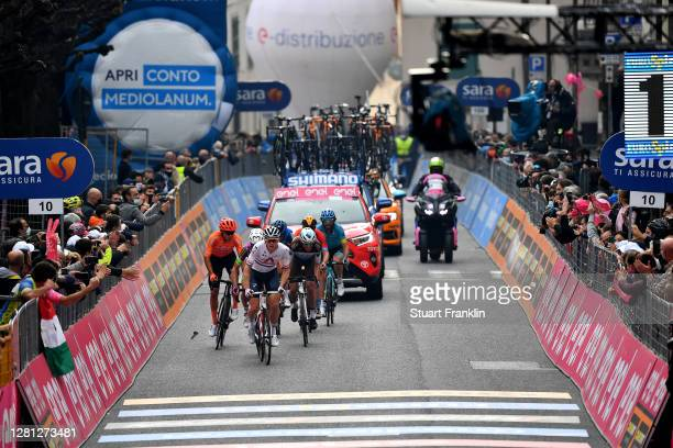 Ben Swift of The United Kingdom and Team INEOS Grenadiers / Ben O'connor of Australia and NTT Pro Cycling Team / Geoffrey Bouchard of France and Team...