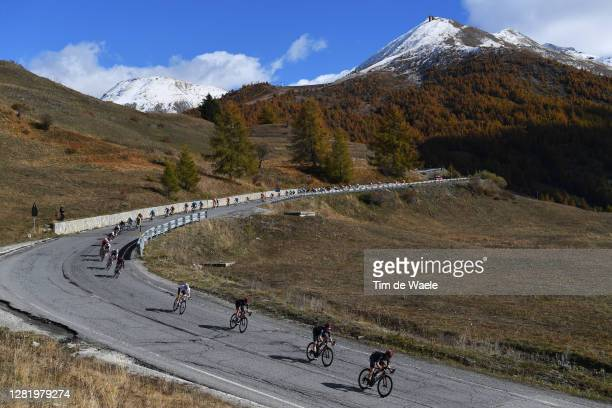 Ben Swift of The United Kingdom and Team INEOS Grenadiers / Rohan Dennis of Australia and Team INEOS Grenadiers / Tao Geoghegan Hart of The United...