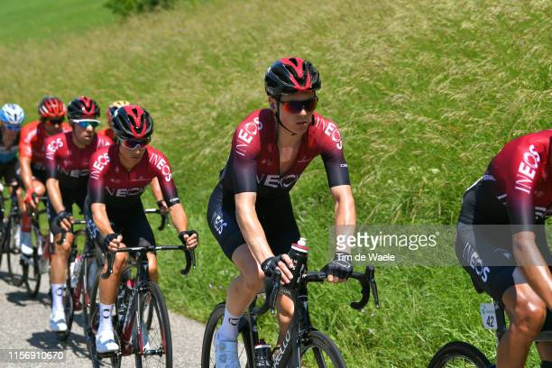 Ben Swift of United Kingdom and Team INEOS / Kenny Elissonde of France and Team INEOS / during the 83rd Tour of Switzerland Stage 5 a 177km stage...