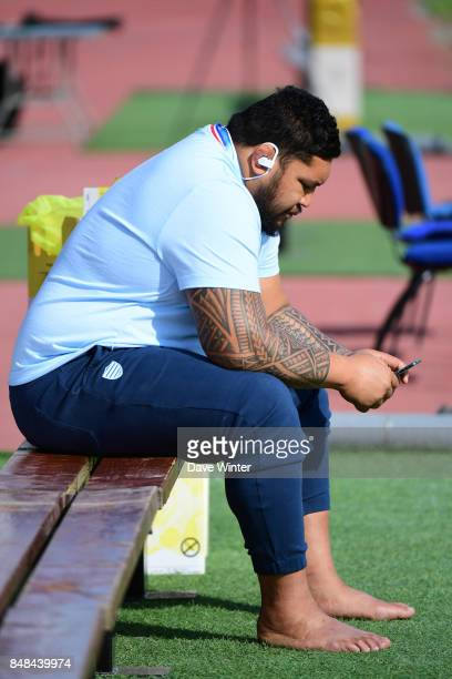Ben Tameifuna of Racing 92 before the Top 14 match between Racing 92 and Oyonnax at on September 17 2017 in Colombes France