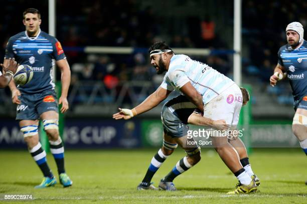 Ben Tameifuna of Racing 92 during the European Champions Cup match between Castres and Racing 92 on December 9 2017 in Castres France