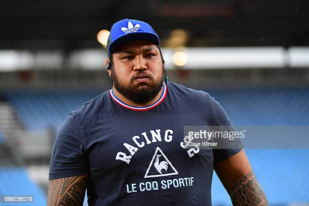Ben Tameifuna of Racing 92 during the French Top 14 match between Racing 92 and Stade Toulousain on September 4 2016 in Paris France