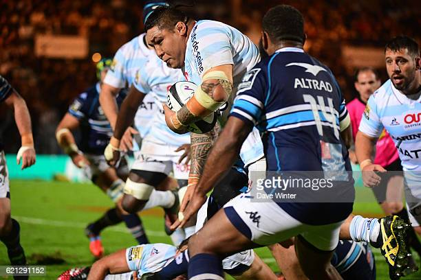 Ben Tameifuna of Racing 92 during the Top 14 match between Racing 92 and Montpellier Rugby on November 5 2016 in Colombes France