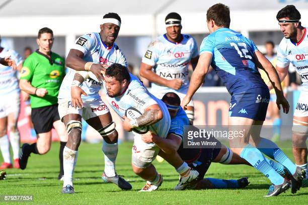 Ben Tameifuna of Racing 92 during the Top 14 match between Racing 92 and Montpellier on November 26 2017 in Paris France