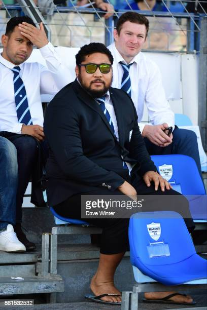Ben Tameifuna of Racing 92 who is currently suspended by the club during the European Rugby Champions Cup match between Racing 92 and Leicester...