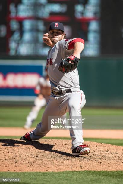 Ben Taylor of the Boston Red Sox pitches against the Minnesota Twins on May 6 2017 at Target Field in Minneapolis Minnesota The Red Sox defeated the...