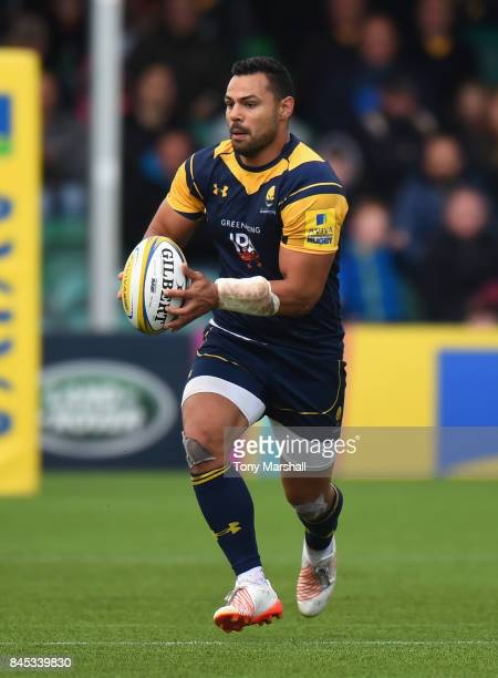 Ben Teo of Worcester Warriors during the Aviva Premiership match between Worcester Warriors and Wasps at Sixways Stadium on September 10 2017 in...