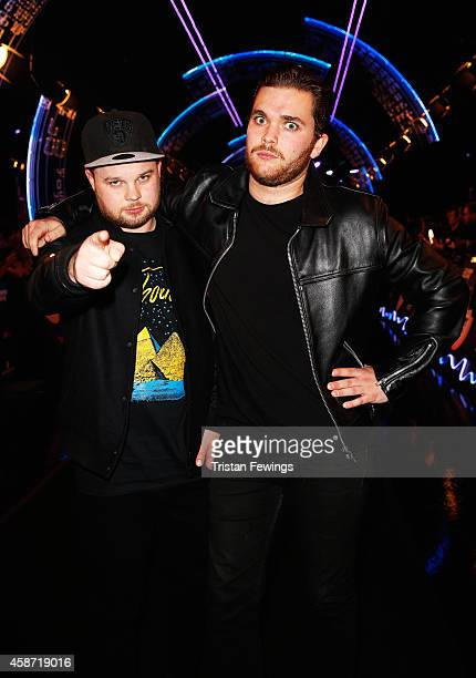 Ben Thatcher and Mike Kerr of Royal Blood attend the MTV EMA's 2014 at The Hydro on November 9 2014 in Glasgow Scotland