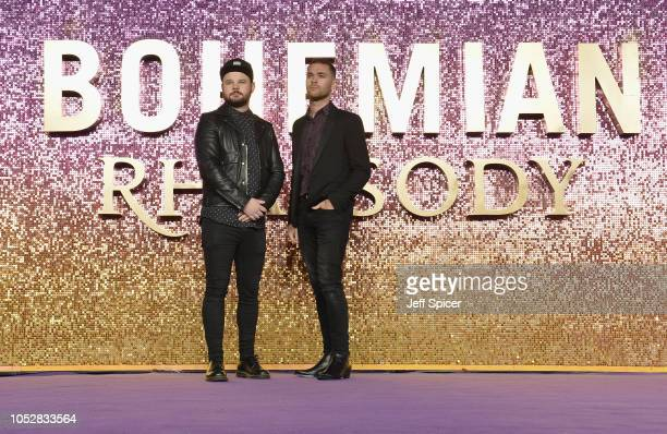 Ben Thatcher and Mike Kerr of Royal Blood attend the World Premiere of 'Bohemian Rhapsody' at SSE Arena Wembley on October 23 2018 in London England