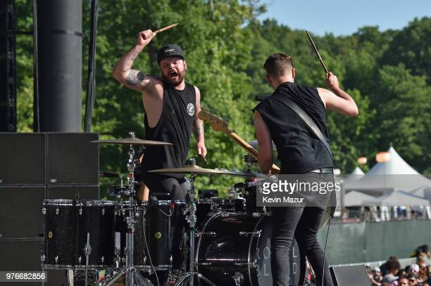 Ben Thatcher and Mike Kerr of Royal Blood perform on the Firefly Stage during the 2018 Firefly Music Festival on June 16 2018 in Dover Delaware