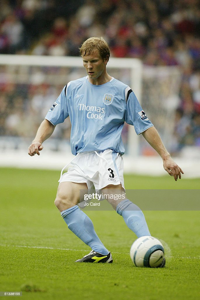 Ben Thatcher of Manchester City in action during the Barclays Premiership match between Crystal Palace and Manchester City at Selhurst Park on September 18, 2004 in London, England.