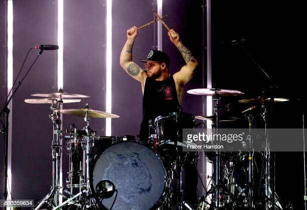 Ben Thatcher of Royal Blood perform at The Wiltern on August 16 2017 in Los Angeles California