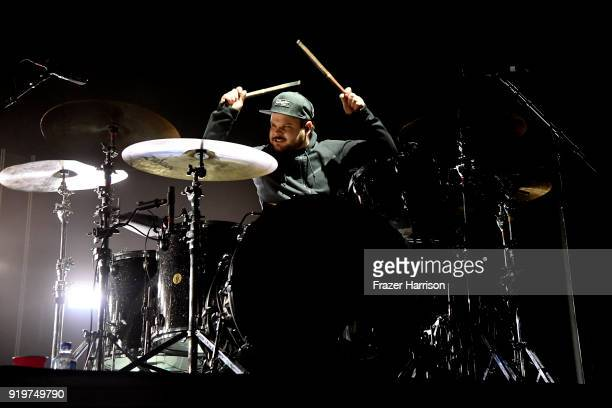 Ben Thatcher of Royal Blood Performs At The Forum supporting Queens of the Stone Age on February 17 2018 in Inglewood California