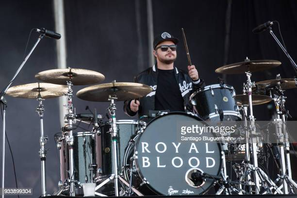 Ben Thatcher of Royal Blood performs during the first day of Lollapalooza Buenos Aires 2018 at Hipodromo de San Isidro on March 16 2018 in Buenos...